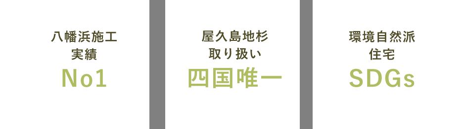 八幡浜施工実績No1 屋久島地杉取り扱い 四国唯一 環境自然派住宅SDGs